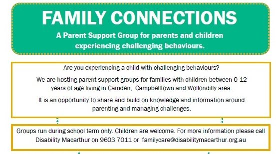 Family Connections Parent Support Group