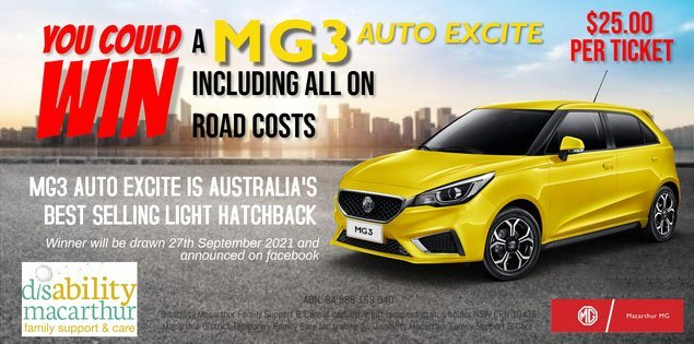 Win an MG3 Auto Excite
